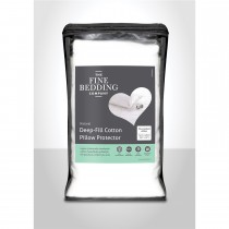 Fine Bedding Company Deep Fill Cotton Pillow Protector