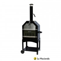 La Hacienda Steel Pizza Oven/Smoker, Black