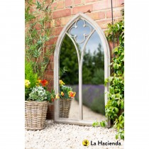 La Hacienda Church Window Mirror, Stone