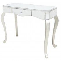 Single Drawer Mirrored Console Table, Champgne