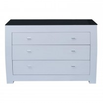 Casa Emily 3 Drawer Dresser, White