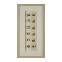 Casa White Frame Shells Wall Art, Brown