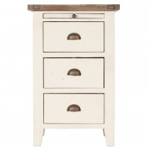 Casa Cotswold Bedside Chest, White