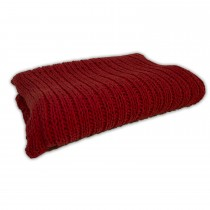Casa Tinke Knit Throw Red, Red