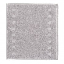 Vossen Ivory/silver Country Facetowel Facecloth, Silver/ivory