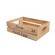 T & G Woodware Small Crate 'Farm Fresh Eggs'