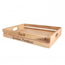 T & G Woodware Large Crate 'Fresh Garden'