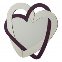 Casa Triple Heart Mirror, Purple