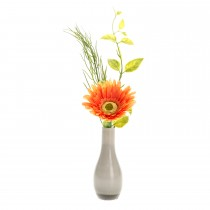Casa Peach Gerbera In Vase, Peach
