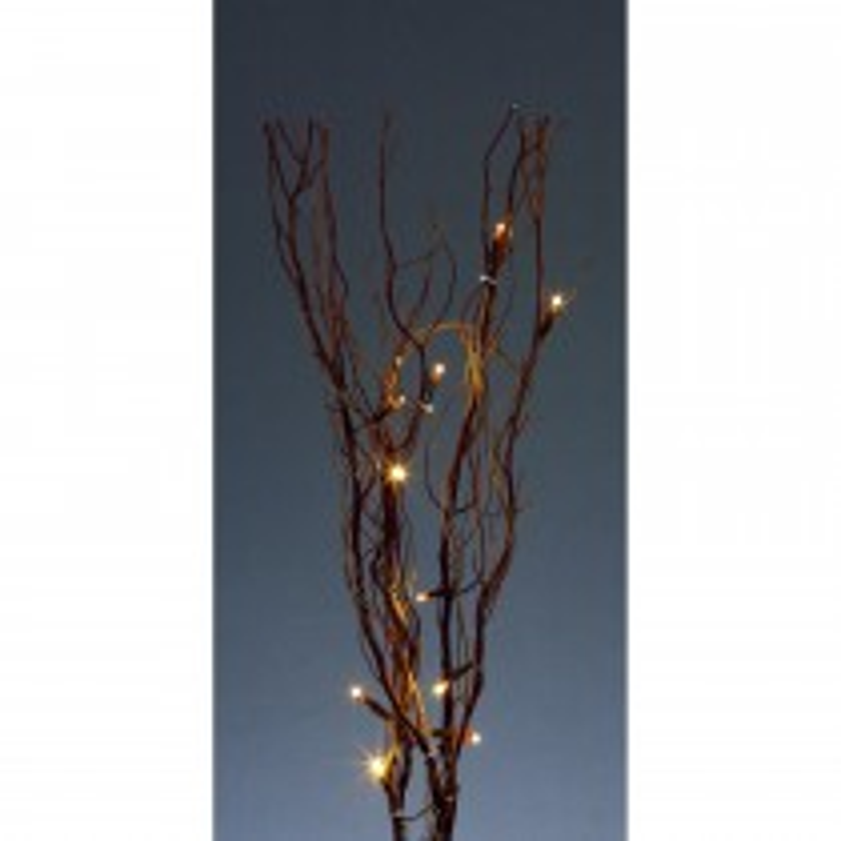 40cm Brown Twig Lights 16 White Led