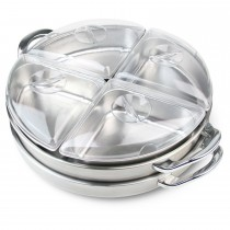 Nostalgia Electrics Lazy Susan Buffet Server, Steel