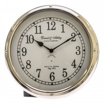 Casa Daniel & Ashley Porthole Wall clock, Silver