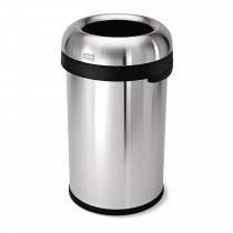 Simplehuman 80 Litre Bin, Brushed Steel