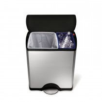 Simplehuman 30/16 Litre Bin, Brushed Steel