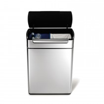 Simplehuman 24/24 Litre Bin, Brushed Steel