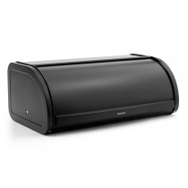 Brabantia Roll Top Bread Bin, Matt Black