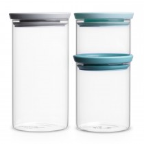Brabantia Glass Jar 3 piece Set
