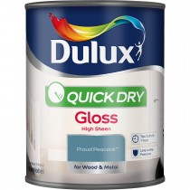 Dulux 750ml Quick Dry Gloss Paint, Proud Peacock