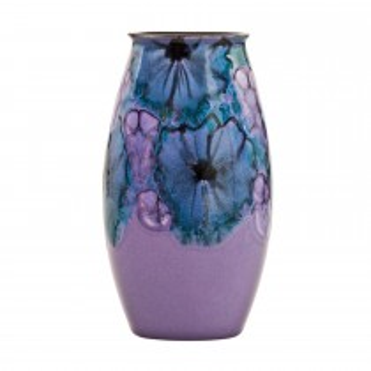Poole Pottery Jasmine Manhattan Vase, Lilac