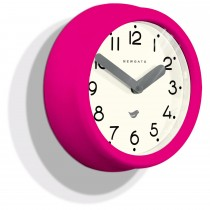 Newgate Clocks Pantry Clock, Hot Pink