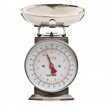 Casa Retro Mechanical Kitchen Scale, Silver
