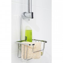 Croydex Shower Riser Rail Caddy, Silver