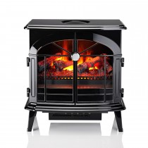 Dimplex Burgate Electric Stove, Black