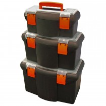 Faithfull 3pc Plastic Toolbox Set