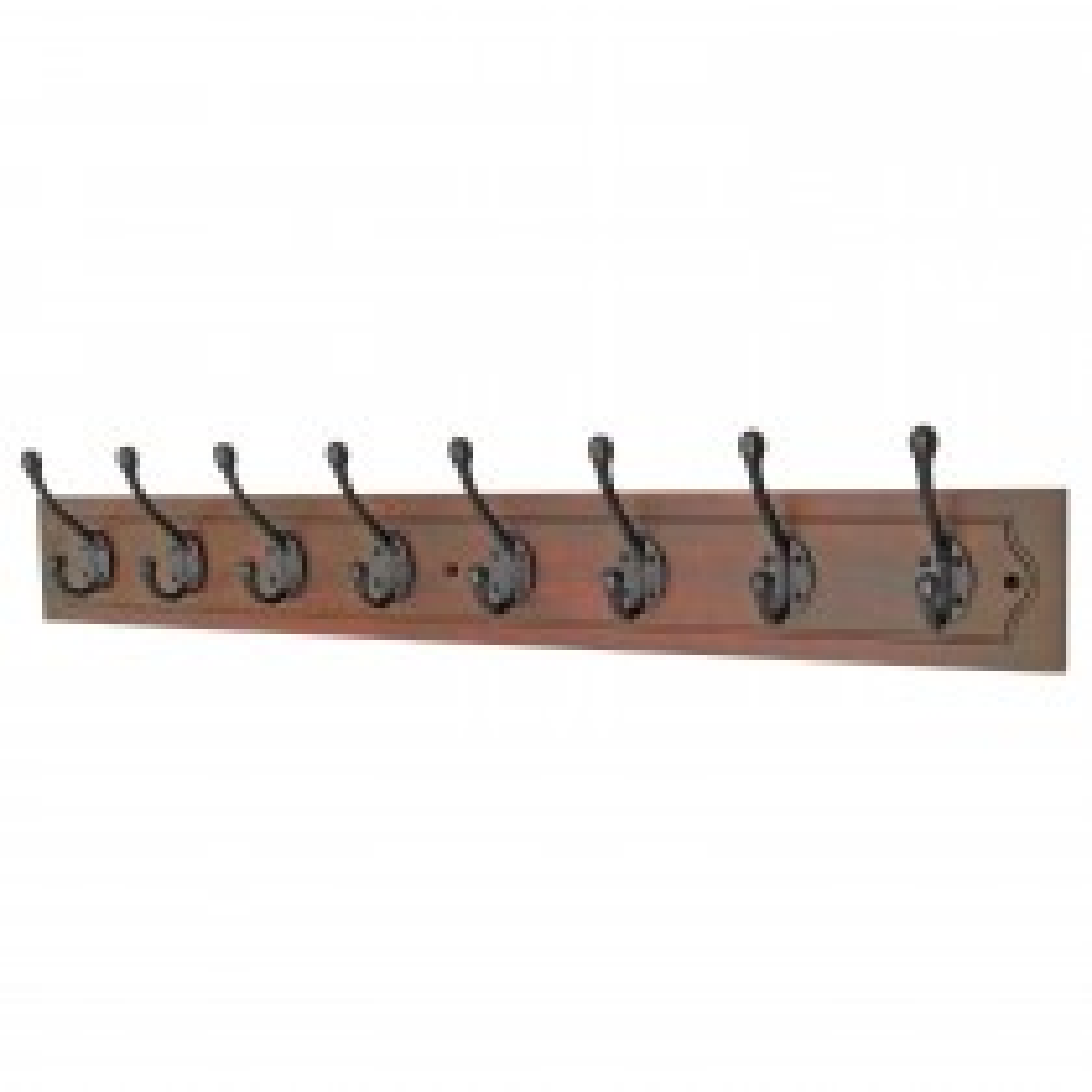 Headbourne 8 Decorative Hooks on Antiqued Jumbo Wooden Board Coat Rack Hanger