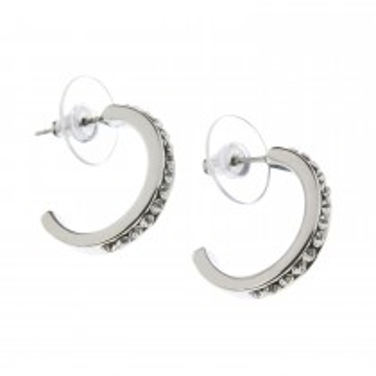 Indulgence Rhodium/crystal Hoop Er, Silver