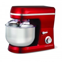 Morphy Richards 40010 Accents Stand Mixer, Red
