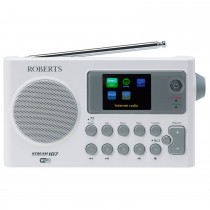 Roberts Stream 107 Dab Radio, White