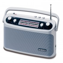 Roberts R9927 Battery Radio, Silver