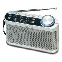 Roberts R9993 Battery Radio, Silver