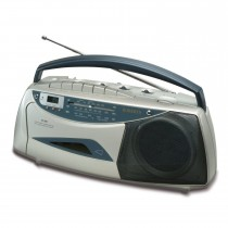 Roberts Rc9907 Radio Cassette, Silver