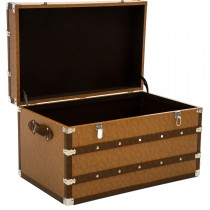 Casa Leather Trunk Large, Brown