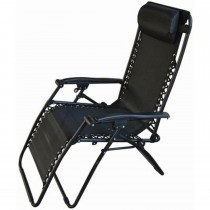 Blackspur Reclining Chair All Black, Black/black