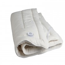 Devon Duvets Double Wool Mattress Topper, Ivory