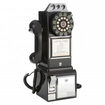 Wild & Wolf 1950's Diner Black Telephone, Black