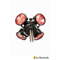 Heatmaster Popular Parasol Infrared Htr, Black/red Bulb