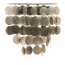 Casa Capiz Tiered Pendant, Grey Mix