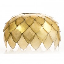 Casa Capiz Shield Dome Shade, Beige