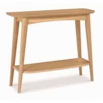Casa Oslo Console Table With Shelf, Oak