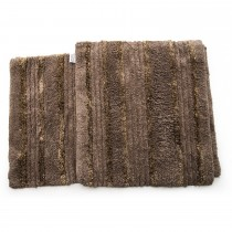 Casa Elite Silk Bathmat Set Taupe, Taupe