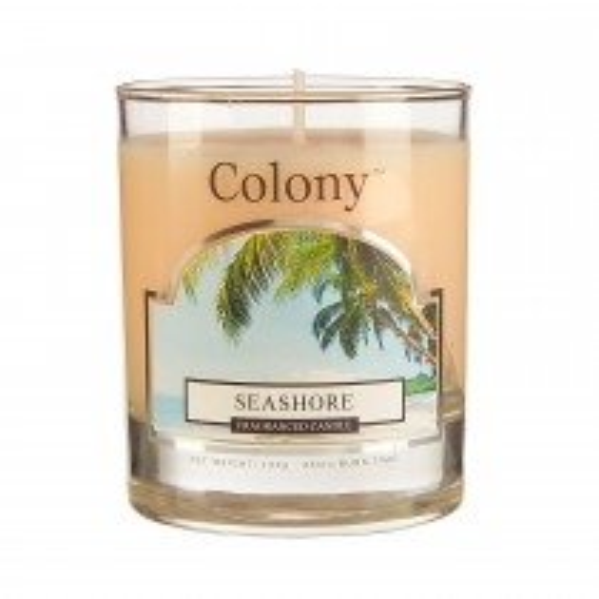 Colony Wax Filled Small Jar Seashore, Yellow