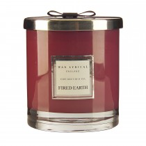 Wax Filled Large Glass Jar Emperors Red Tea, Red