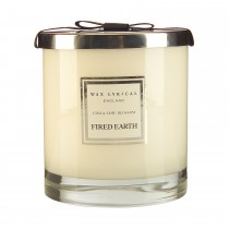 Wax Filled Large Glass Jar Chai & Lime Blossom, White