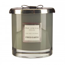 Wax Filled Large Glass Jar Earl Grey & Vetivert, Grey