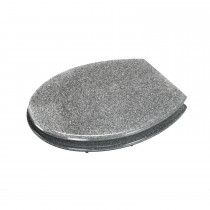 Croydex Silver Glitter Toilet Seat, Silver
