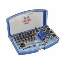 Faithfull Screwdriver Bit & Socket 42 Piece Set